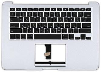 Клавиатура для ноутбука Apple MacBook Air 2012+ (A1466) Black с топ панелью, RU (горизонтальный энтер)