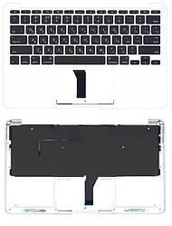 Клавиатура для ноутбука Apple MacBook Air 2013+ (A1465) Black с топ панелью, RU (горизонтальный энтер)