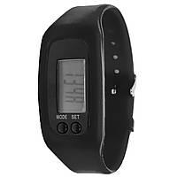 Часы Lesko LED SKL Black спортивный силиконовый ремешок экран 1 дюйм шагомер электронное время