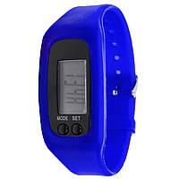 """Часы Lesko LED SKL Blue для активных людей с функцией шагомера диагональ экрана 1"""" счетчик времени"""