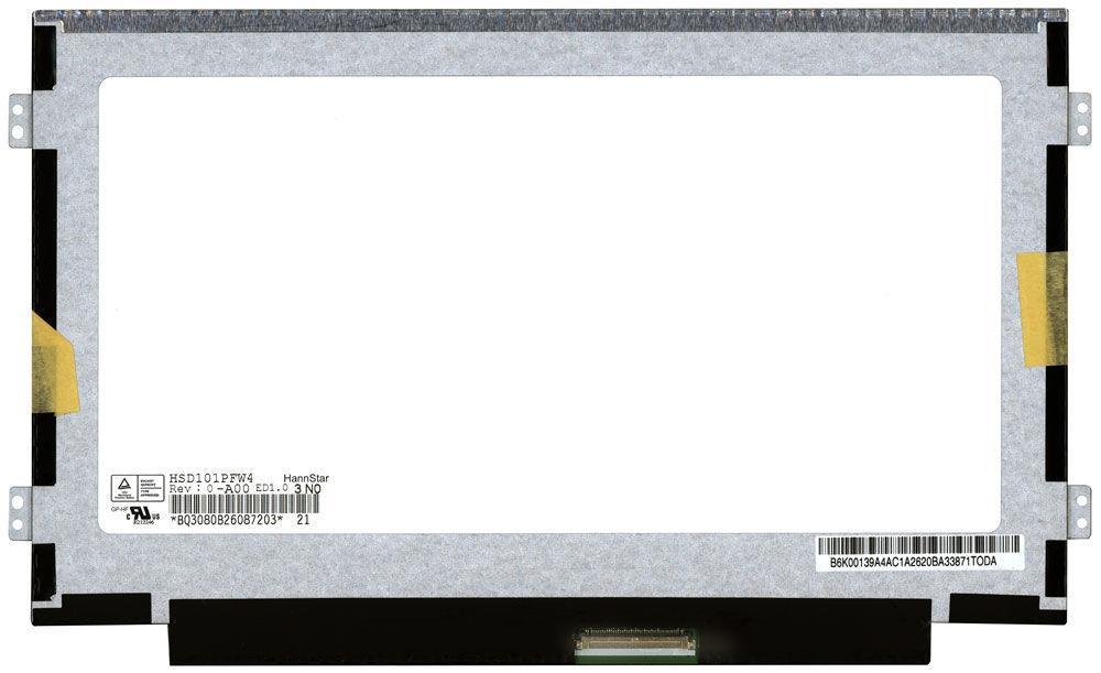 "Матрица для ноутбука 10,1"", Slim (тонкая), 40 pin (снизу справа), 1024x600, Светодиодная (LED), крепления"