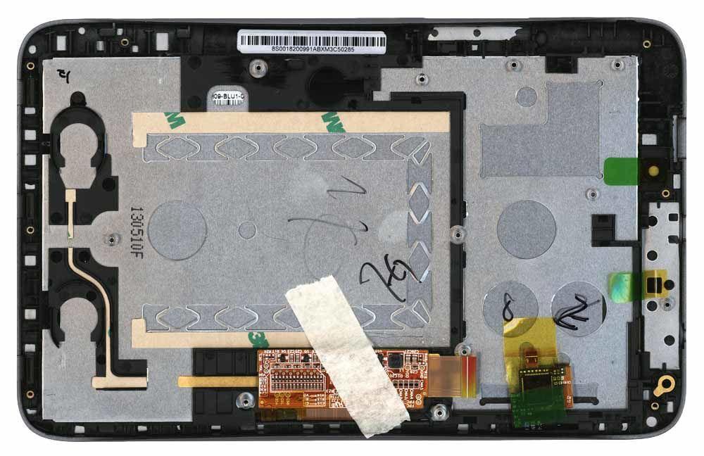 Матриця з тачскріном (модуль) для Lenovo IdeaTab A2107 чорний з рамкою