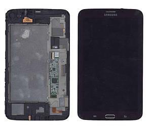 Матрица с тачскрином (модуль) для Samsung Galaxy Tab 3 7.0 SM-T211 коричневый с рамкой