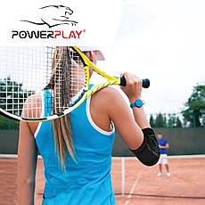 Налокітники спортивні PowerPlay 4098 Чорні S/M (Пара), фото 3