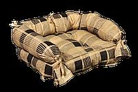 """Лежак (лежанка) для котов и собак Мур-Мяу """"Барон"""" Бежево-коричневый"""