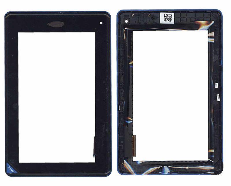 Тачскрин (Сенсорное стекло) для планшета Acer Iconia Tab B1-A71 черное c рамкой