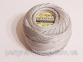 Пряжа Канариас (ирис тонкий) Canarias YarnArt 100%  серый светлый, 1 шт. № 4920
