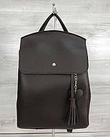 Молодежный сумка-рюкзак WeLassie Сердце Шоколадный (65-44605)