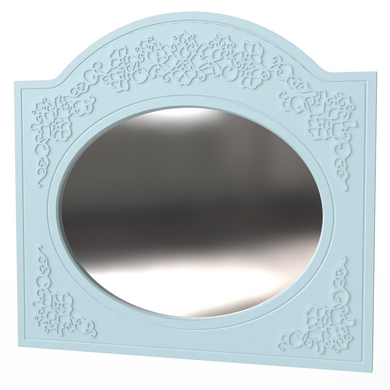 """Зеркало овальное """"Amelie"""" 100х93 см. Голубая лагуна"""