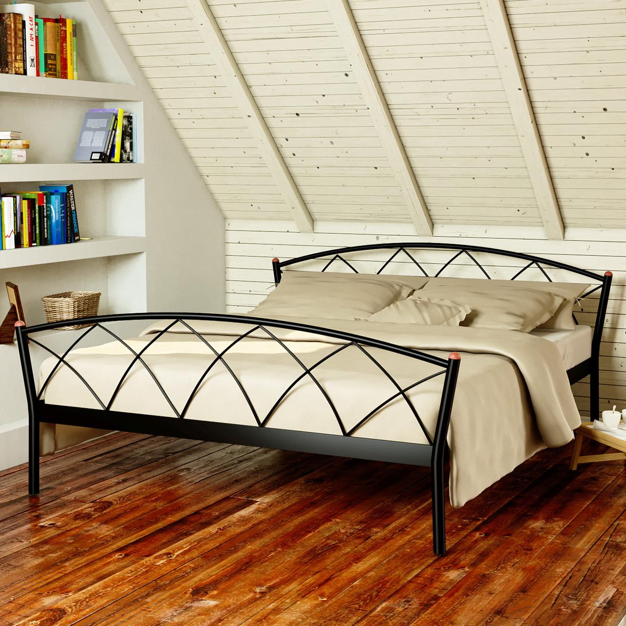 """Кровать """"Жасмин 2"""" Металлический каркас, С изножьем"""
