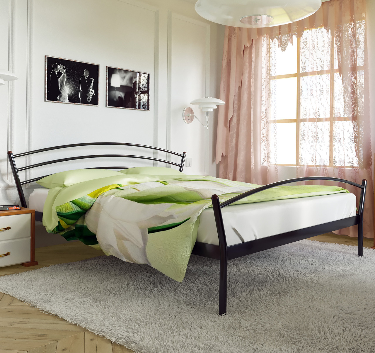 """Кровать """"Марко 2"""" Металлический каркас, С изножьем"""