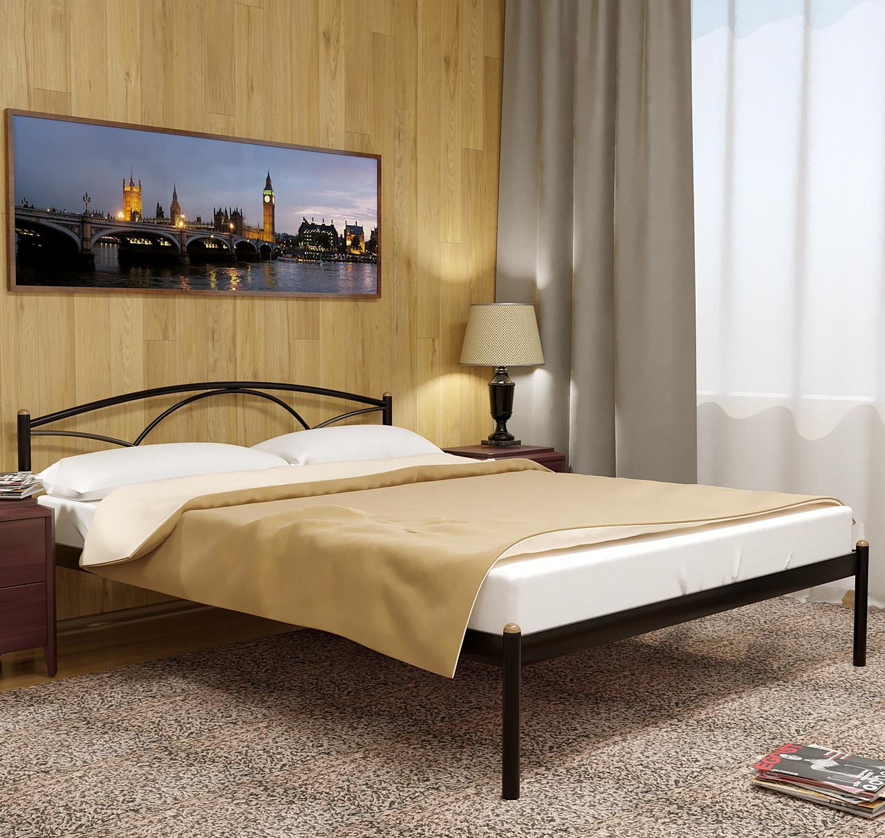 """Кровать """"Палермо 1"""" Металлический каркас, Без изножья"""