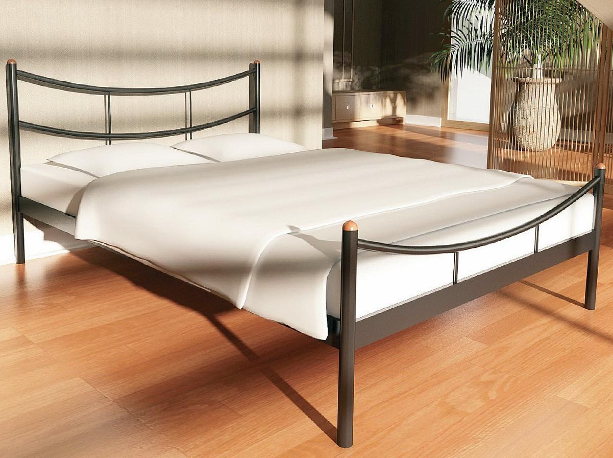 """Кровать """"Сакура 2"""" Металлический каркас, С изножьем"""