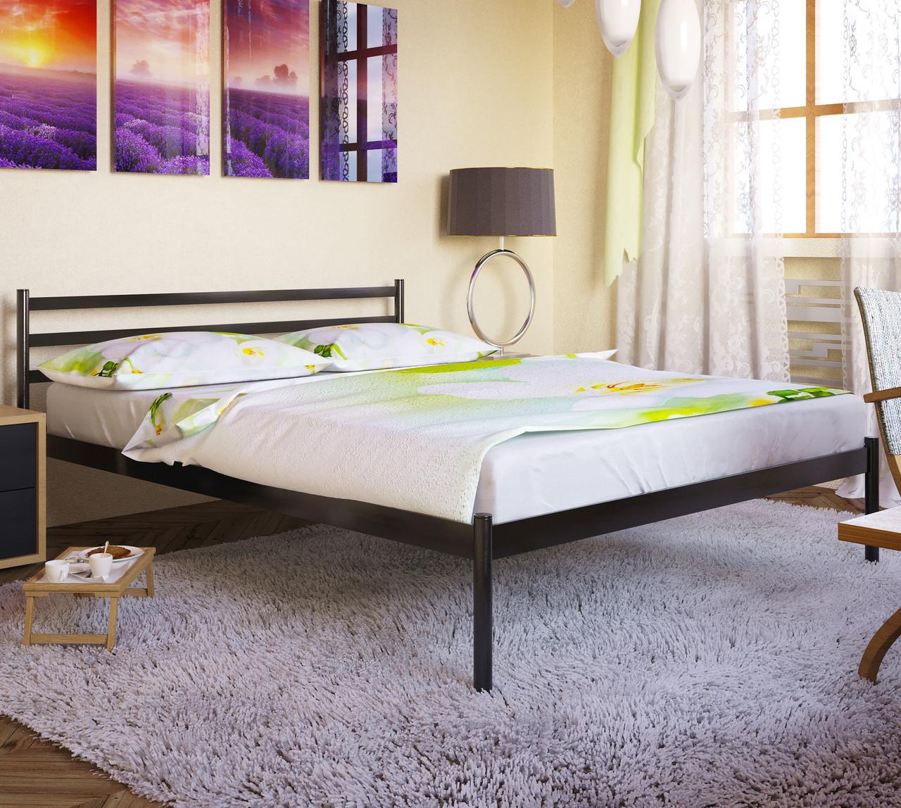"""Кровать """"Флай 1"""" Металлический каркас, Без изножья"""