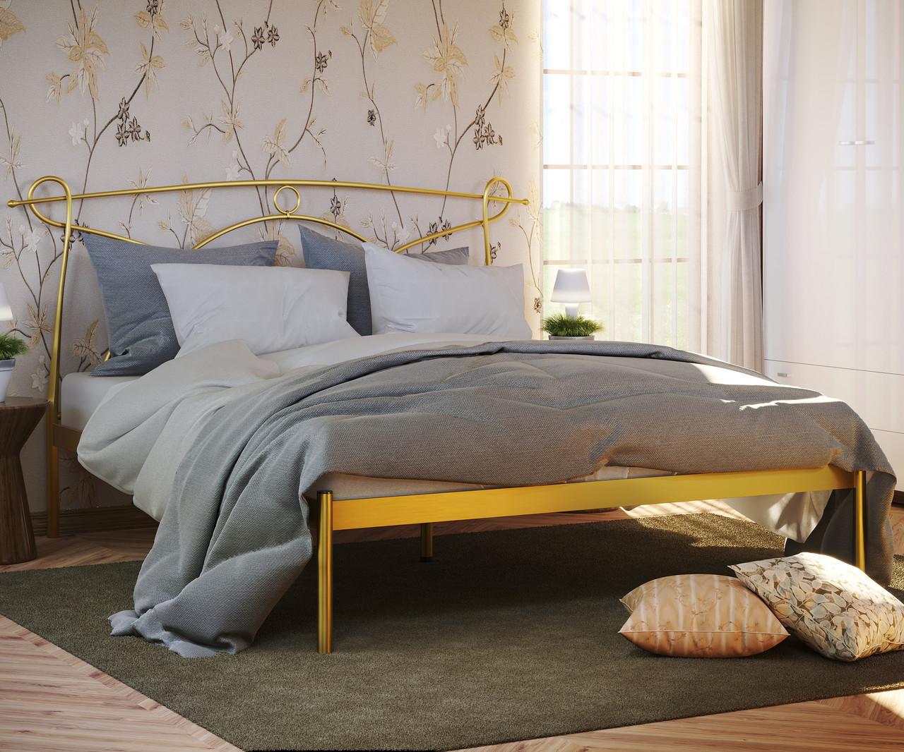 """Кровать """"Флоренция 1"""" Металлический каркас, Без изножья"""