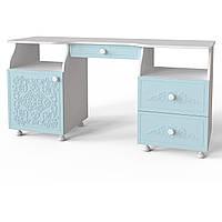 """Туалетный столик """"Amelie"""" 151х60х75 см. Голубая лагуна"""