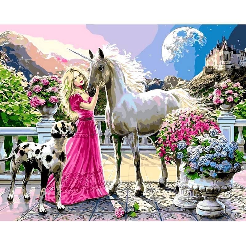 Картина рисование по номерам Babylon Девичьи мечты. Худ. Стив Рид 40х50см VP436 набор для росписи, краски,
