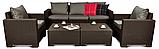 Комплект садових меблів Allibert by Keter California Grande Lounge Set Brown ( коричневий ), фото 4