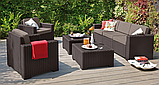 Комплект садових меблів Allibert by Keter California Grande Lounge Set Brown ( коричневий ), фото 6