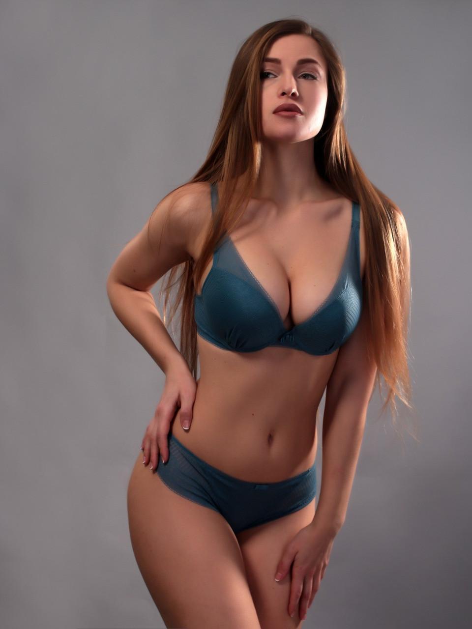 Комплект жіночої нижньої білизни Acousma A6469BC-P6469H оптом, чашка C, колір Синій