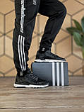 🔥 Кроссовки мужские Adidas Nite Jogger адидас найт джоггер черные повседневные спортивные рефлективные, фото 4