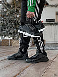 🔥 Кроссовки мужские Adidas Nite Jogger адидас найт джоггер черные повседневные спортивные рефлективные, фото 6