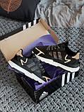 🔥 Кроссовки мужские Adidas Nite Jogger адидас найт джоггер черные повседневные спортивные рефлективные, фото 10