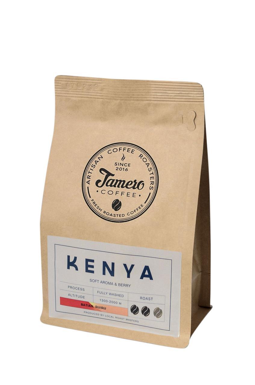 Кофе в зерне свежеобжаренный Jamero Арабика Кения 5 х 1 кг ( 5 кг )