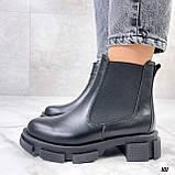 Женские ботинки ДЕМИ черные с резинкой натуральная кожа весна/ осень, фото 5