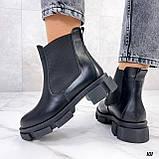 Женские ботинки ДЕМИ черные с резинкой натуральная кожа весна/ осень, фото 6