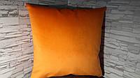 Подушка декоративная 40х40 оранжевая, фото 1