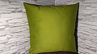 Подушка декоративная 40х40 зеленая, фото 1