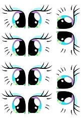 """Вафельна картинка """"Очі"""""""