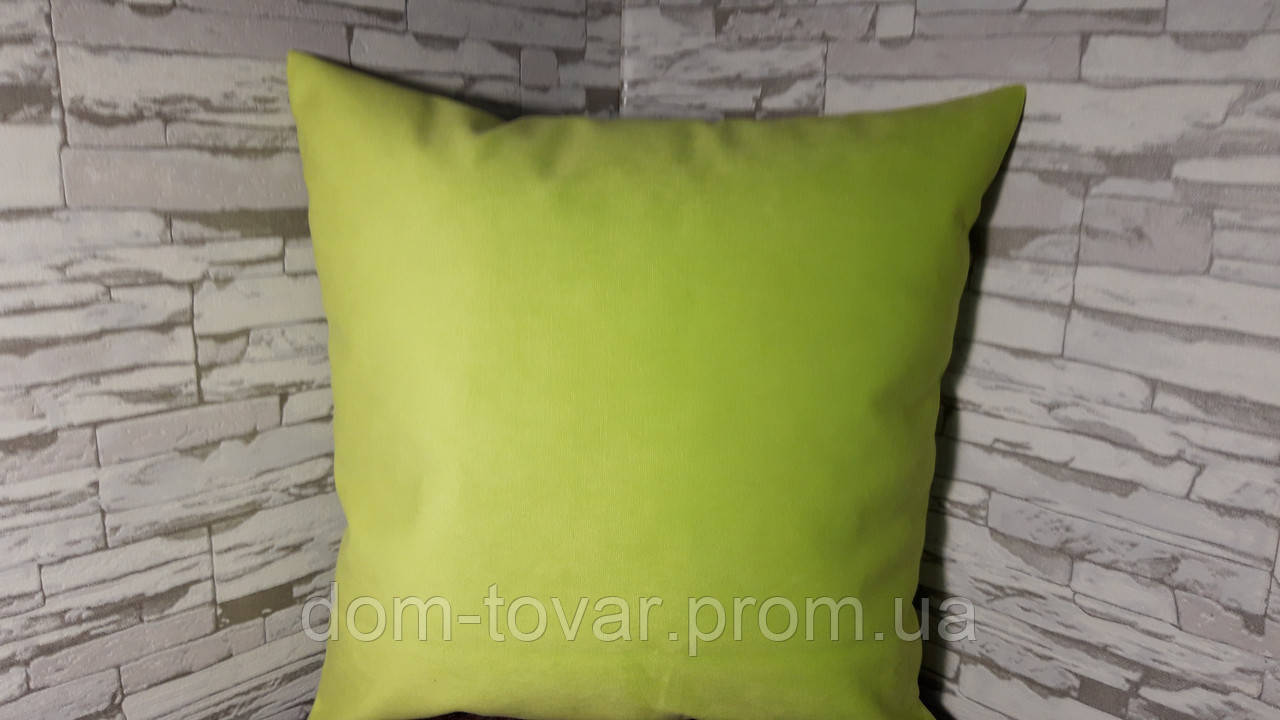 Подушка декоративная 40х40 салатовая