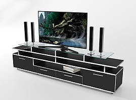 "Тумба под телевизор 194х35х50 см. ""Cinema"" Черный/Белый"