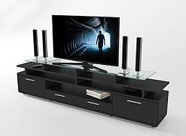 "Тумба под телевизор 194х35х50 см. ""Cinema"" Черный/Черный"