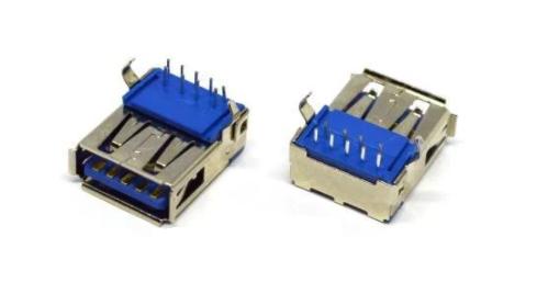 Гнездо USB тип A vers.3.0 (90град), монтажное