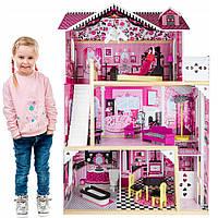 Кукольный домик игровой для Барби.Домик для кукол с лифтом и мебелью.Домік для ляльки.