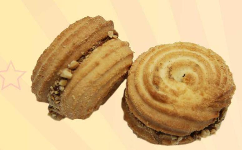Печенье песочное Орбита с арахисом 2 кг ТМ Шустрый пекарь