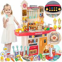 Детская интерактивная кухня Kitchen Craft Fun Cooking розовая с холодным паром и циркуляцией воды