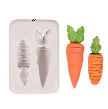 """Силиконовый молд """"Морковь"""" - размер молда 6*4см, силикон"""