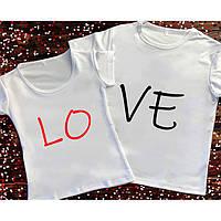 Парні футболки Love Парні жіночі,чоловічі футболки до дня ЗАКОХАНИХ