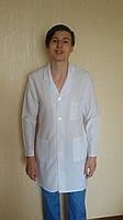 Мужской медицинский халат Классика рубашечная ткань