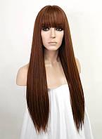 Светло коричневый парик ровный 65-70см