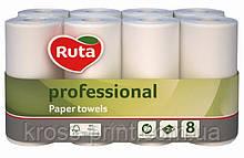 Полотенце бумажное белое 2слоя 8шт Ruta Professional