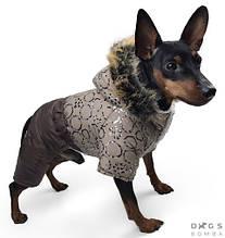 Комбінезон хутро 31 см (об'єм до 46см) зимовий розм 4 бежевий  для собак