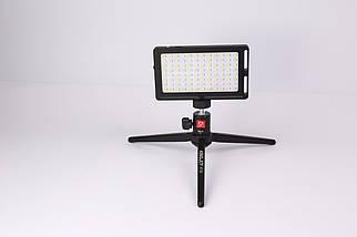 Светодиодная LED панель AFI LR-11, Портативный видео свет 3000-6500K с встроенным аккумулятором., фото 3