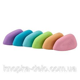 Ластик1196-A  из качественного синтетического каучука, ассорти цветов.Каждый ластик в полибеге со штрих-кодом.