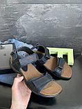 Мужские сандали нубуковые летние синие Monster Tracking П-син, фото 3