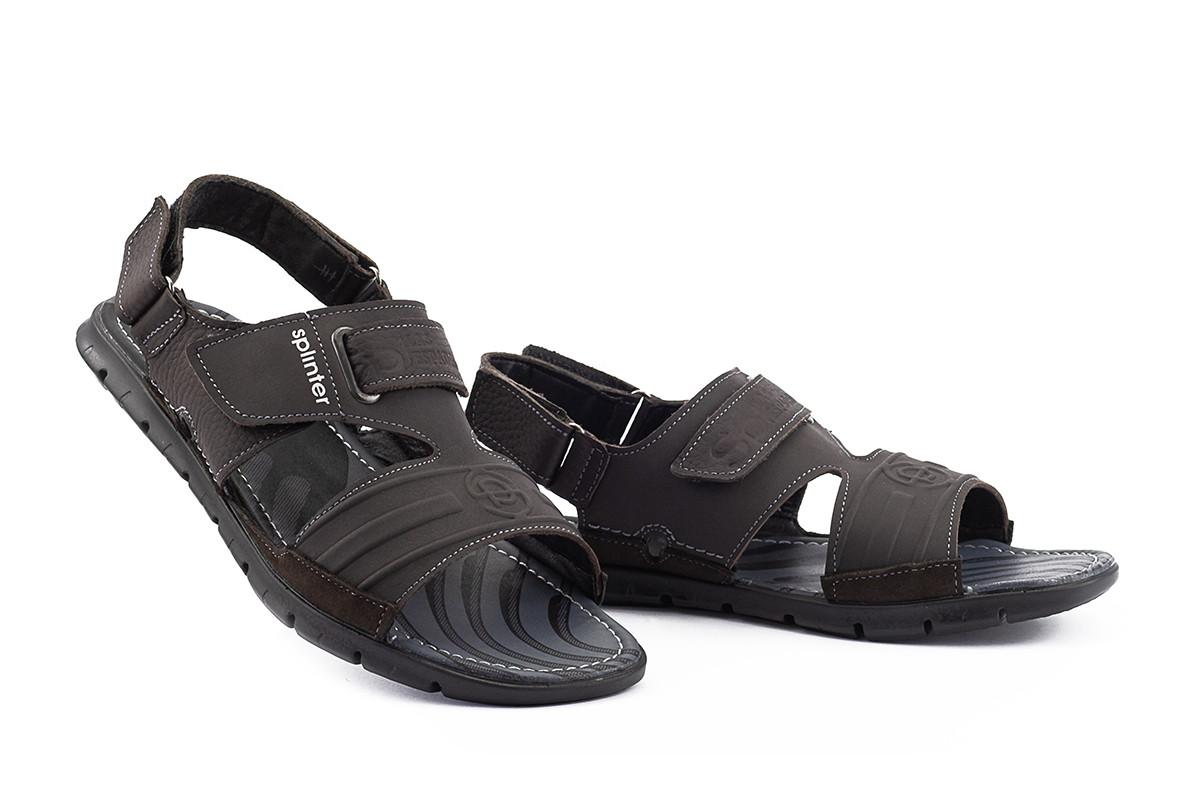Мужские сандали кожаные летние коричневые Splinter Summer с 0718
